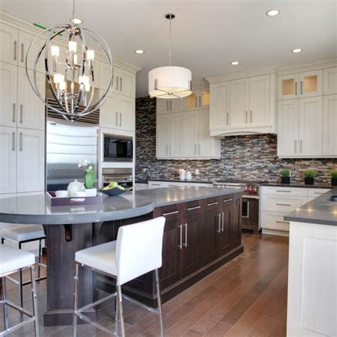 U Shaped Kitchen With Narrow Center Island Home Design