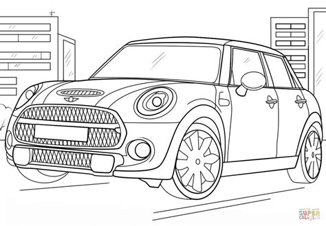 mini car coloring page mini cooper coloring page free printable coloring pages