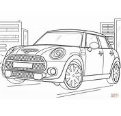 Mini Cooper Coloring Page  Free Printable Pages