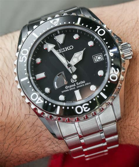 seiko dive watches grand seiko drive diver sbga029 on