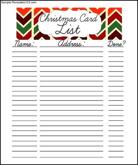 christmas template for google docs free christmas card list printable google doc sle