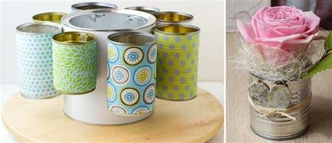diy crafts with tin cans 20 tin can craft ideas flower vases and plant pots