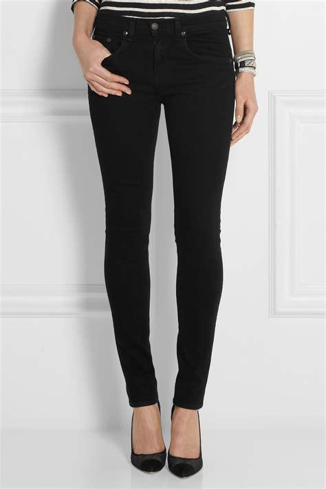 rag bone high rise skinny jeans  black lyst