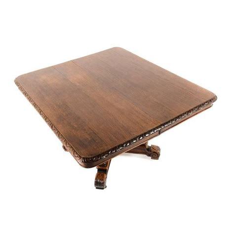 Antique Solid Oak Dining Table Antique Solid Oak Square Henri Ii Dining Table Circa 1880 For Sale At 1stdibs