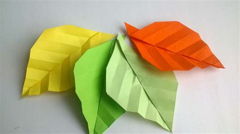 How To Make Fall Leaves Out Of Paper - how to make origami autumn leaves diy crafts tutorial