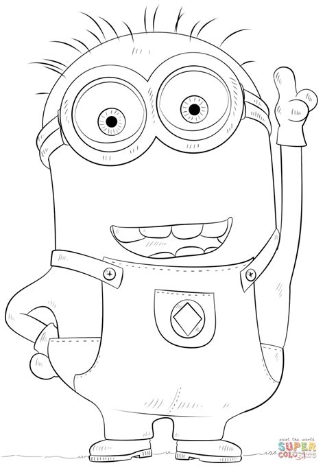minion carl coloring page minion phil coloring page free printable coloring pages