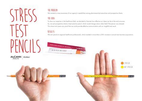 test stress mccann health dubai stress test pencils gute werbung