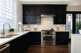 White Or Black Kitchen Cabinets Black Kitchen Cabinets With White Countertops