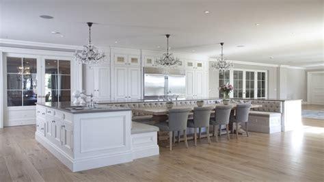 kitchen island  upholstered bench seating design decor ideas