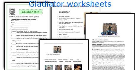 gladiator film questions english teaching worksheets gladiator