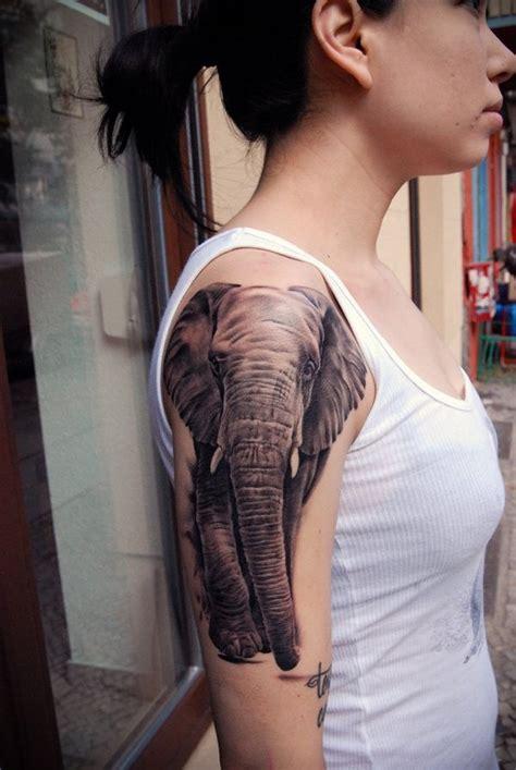 elephant tattoo girl 30 half sleeve elephant tattoos ideas