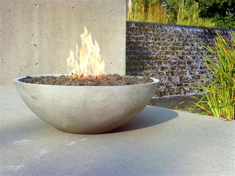 Firepit Bowl Pit Bowls Concrete Fireplace Design Ideas