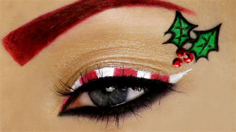 candy cane christmas makeup tutorial youtube