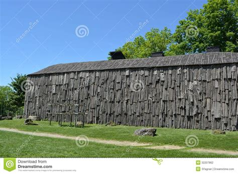Outdoor Shelter Plans Longhouse Stock Photo Image Of Outdoor Replica Spring