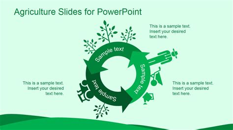 agriculture powerpoint templates green agriculture template for powerpoint slidemodel