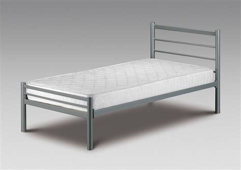 small single bed metal frame new 2ft6 alpen with or