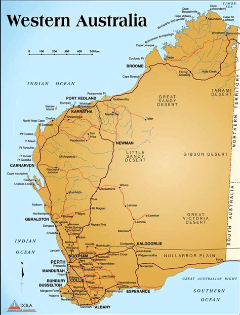 wa map west australia outback touring cing and vacations wanderers out west