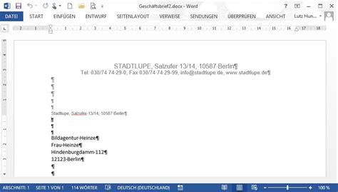 Einschreiben Briefvorlage Word 2013 Basis 3 4 1 Beispiel 86 Seite Eines Gesch 228 Ftsbriefs Nach Din 5008 Form B Teia Ag