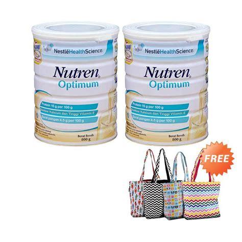Nutren Optimum 800gram jual buy 2 nutren optimum formula free tas nutren