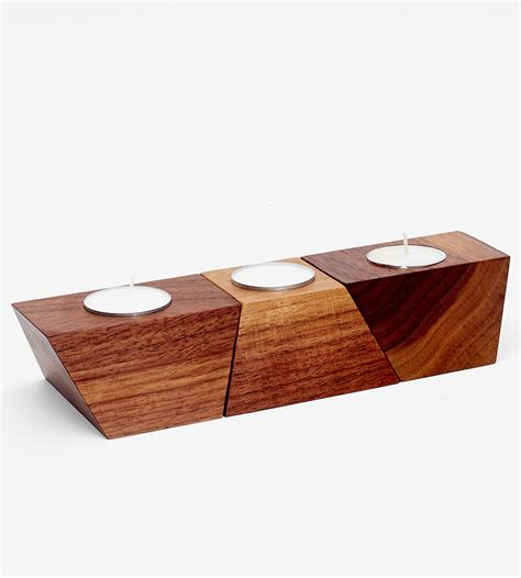 tea light holders geometric wood tea light holder home decor lighting