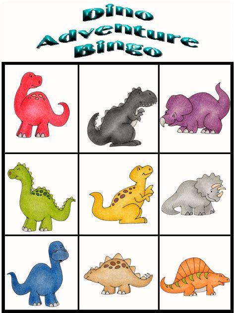 printable dinosaur postcards customize your free printable dino adventure bingo 9