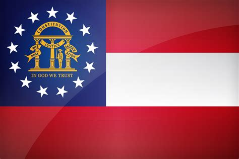 flag of georgia u s state
