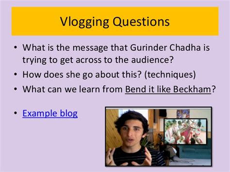 themes in the film bend it like beckham vlogging for film bend it like beckham
