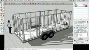 How To Draw Floor Plans In Google Sketchup How To Draw A Tiny House With Google Sketchup Part 1