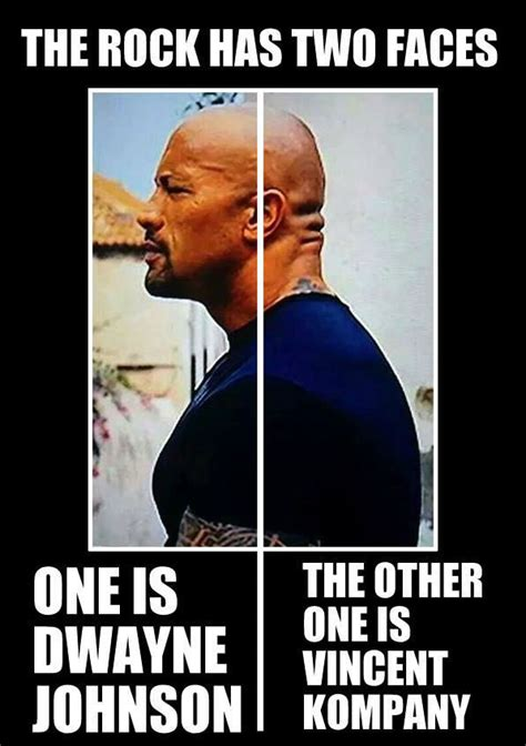 Rock Memes - the rock has two faces weknowmemes