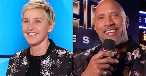 celebrity game shows 2019 ellen and the rock feud over jacket so now he s