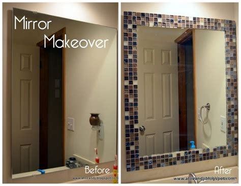 stick on mirror tiles bathroom diy glass tile mirror frame new idea for that tile you