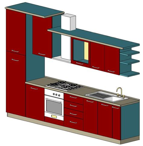 kitchen in autodesk revit object family bibliocad