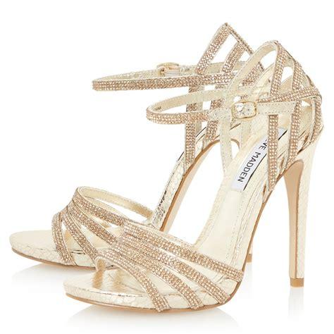 steve madden high heel sandals steve madden cagged diamante strappy high heel sandal in