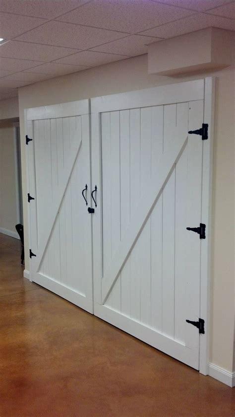 Basement Garage Door Diy Barn Doors Basement Ideas Diy Barn Door Garage And Garage Doors