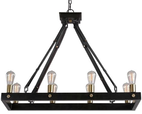 8 light rectangular chandelier marlow 8 light rectangle chandelier from uttermost 21279 coleman furniture