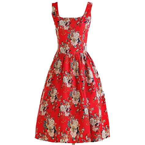 1960 swing dress 1960 s vintage rockabilly floral print swing dress n11914