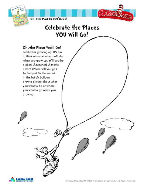oh the places you ll go coloring page free coloring