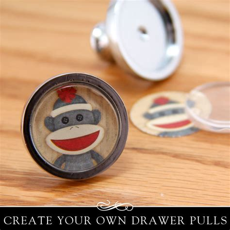 make your own cupboard door handles diy drawer pull kit silver drawer or cabinet knob with clear