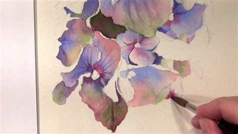 free painting guide how to paint hydrangeas watercolor tutorial