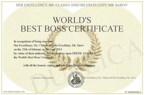 world s best boss certificate