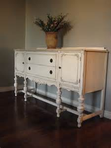 Vintage Buffet Table European Paint Finishes Another Pretty Antique Sideboard