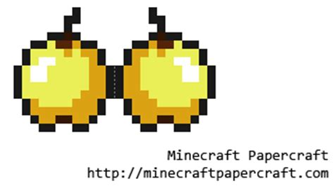 Minecraft Papercraft Food - papercraft golden apple