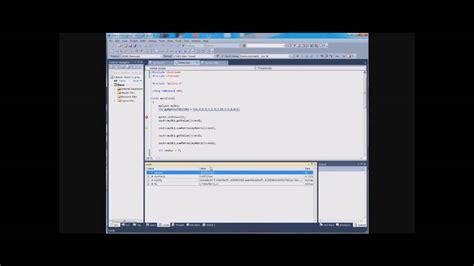tutorial visual studio 2010 youtube tutorial debugging c in visual studio 2010 part 1 3