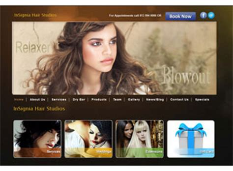 exles of hair websites best salon spa web design exles salon spa web
