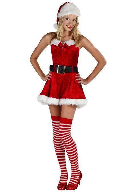 Sexy miss santa costume womens sexy christmas costumes