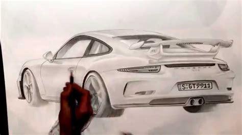Porsche Zeichen by Porsche 911 Gt3 Timelapse Drawing