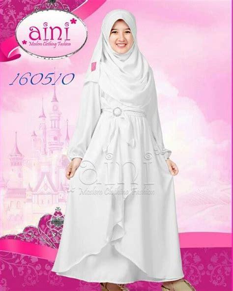 Gamis Pesta Anak Muslim Jual Set Busana Muslim Putih Gamis Jilbab Pesta Anak