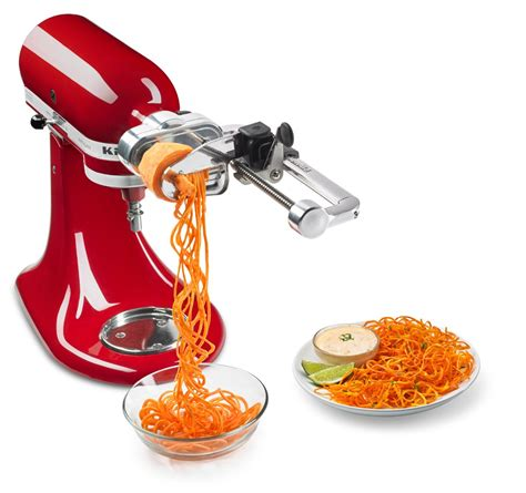 Kitchenaid Spiralizer Thin Blade Set 9 Must Attachments For Your Stand Mixer Compact
