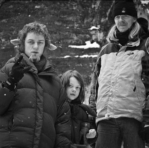 james mcavoy lion witch james mcavoy georgie henley and andrew adamson on the set