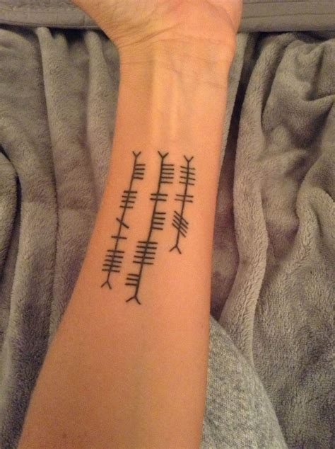 pin ogham tattoo flickr photo sharing on pinterest